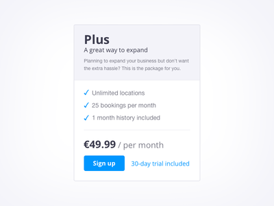 Pricing plan pricing table pricing table button web web design webdesign