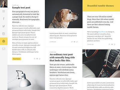 Columns preview tumblr theme web webdesign web design tumblr theme typography minimalistic clean