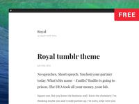 Royal tumblr theme