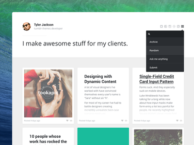 Creator tumblr theme