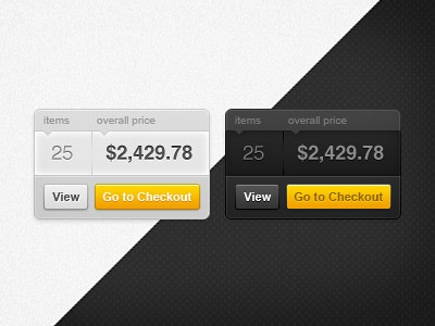 Your cart widget cart widget web webdesign ecommerce freebie free psd