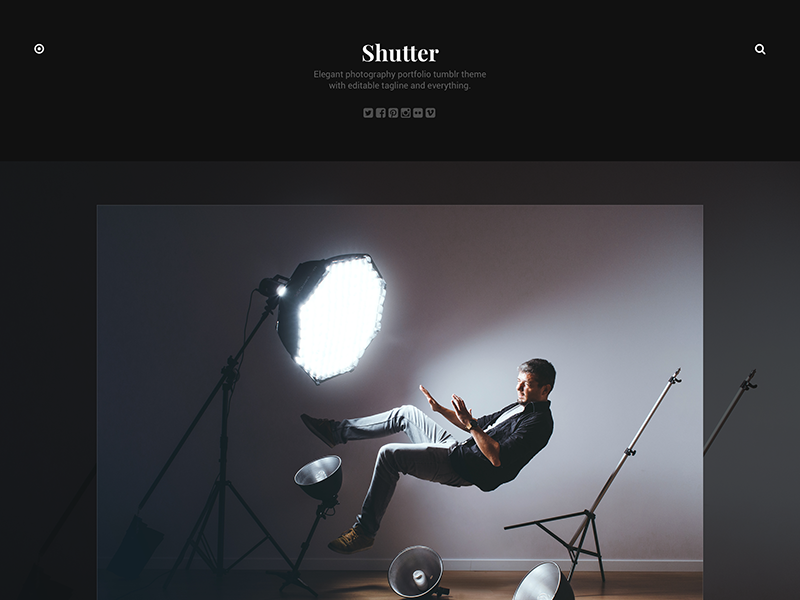 Shutter tumblr theme portfolio clean minimal web design webdesign website web template tumblr theme theme tumblr