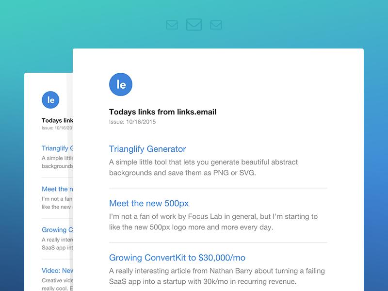 Links.email newsletter blue white light web design webdesign clean minimal web flat mail email newsletter