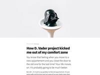 D. Vader blog post