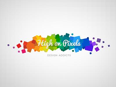 High on Pixels logo logo pixels rainbow pacifico novecento