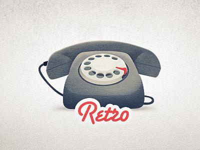 Dribbble retro phone