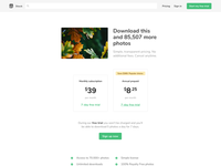 Pricing page tests