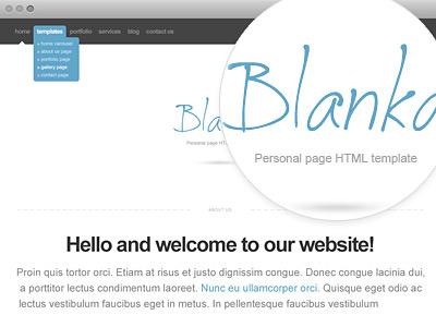 Blanka website template web webdesign web design template html minimalistic free freebie psd