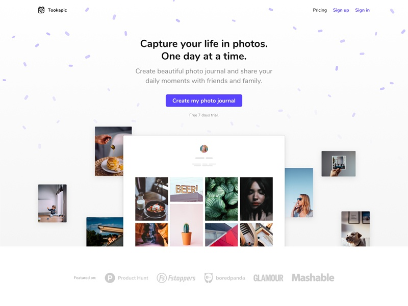 Landing Page, march 2018 minimal website web template theme screenshot hero saas product page landing page landing