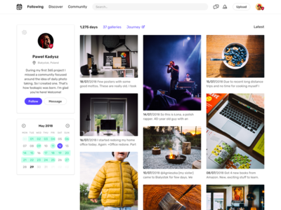 User Profile Layout Test ux ui clean web website web design user minimal layout grid interface profile