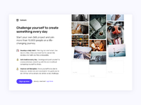 Dribbble landing page