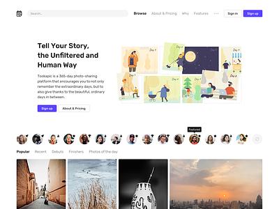 Home page interface ui illustration typography clean web design minimal website web landing page landing