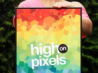 High on Pixels print