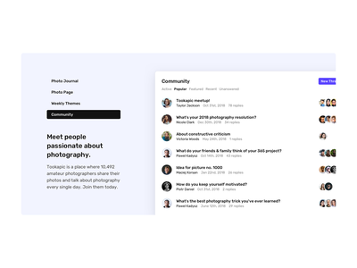 Community section features benefits benefit web design landing page design landing landing page webdesign clean minimal design screenshot forums forum