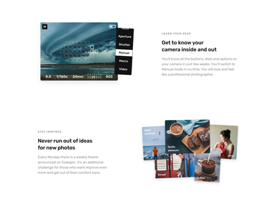More features benefits features conversion product product page photo design clean landing page landing minimal website web web design webdesign