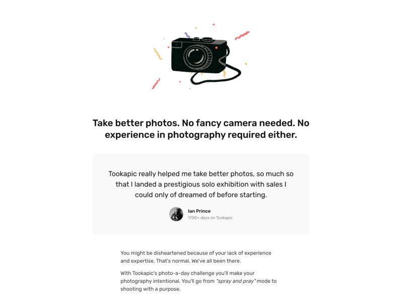 No fancy camera