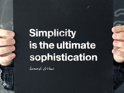 What is simplicity? print quote typography poster frame