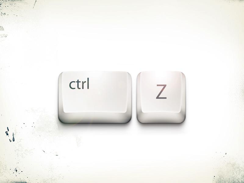 ctrl+z pc button keyboard shadow grunge paint