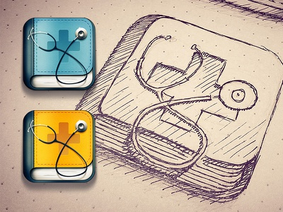 Doctor search iOS icon ios iphone icon ipad shadow icons sketch apple doctor drawing
