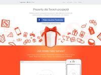 Social gifting landing page