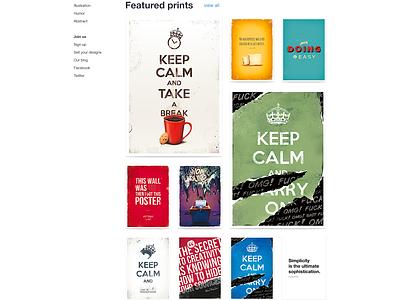 Damn Fine Prints v.3.1 web website web design webdesign ecommerce store shop e-commerce minimal