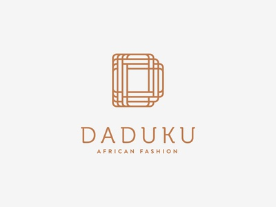 Daduku Fashion fashion african type logo