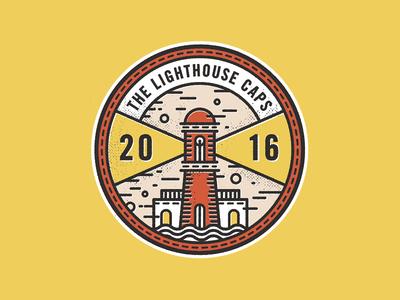 The Lighthouse Caps lighthouse badge monoline