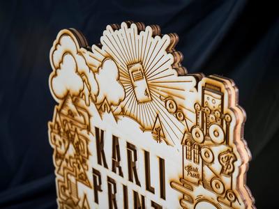 Karli Printi Award lasercut illustration