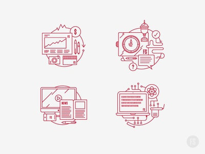 Fifteen Seconds Icons illustration icons
