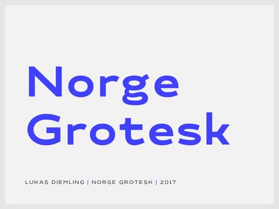 Norge Grotesk design font type