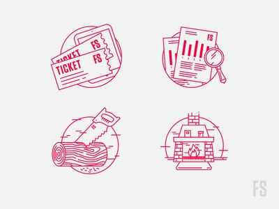 Fifteen Seconds Icons monoline festival illustration icons