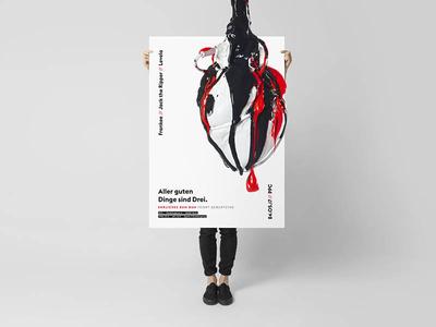 Aller guten Dinge sind Drei /// 02 red art poster graphic