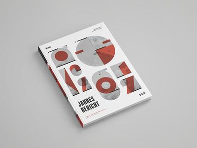 Annual Report Ortweinschule geometric report cover book