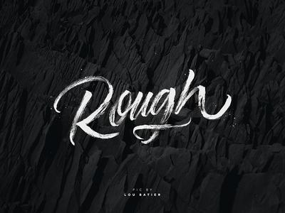 Rough Lettering brush rough texture black lettering