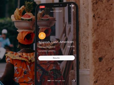 Mango App Update Animation mango languages video branding photography screen design product languages language learning after effects animation