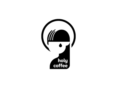 Holy coffee logo black minimal