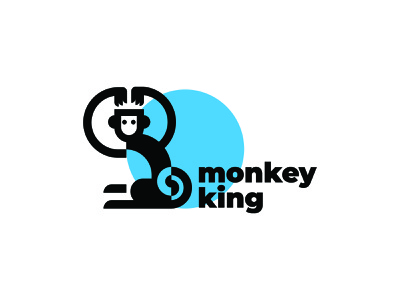 monkey king signet branding vector illustration design logo