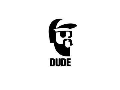 dude icon branding black vector illustration design signet logo