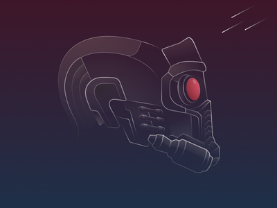 Star-Lord's Mask gaurdians of the galaxy super hero marvel design sketch star-lord illustration