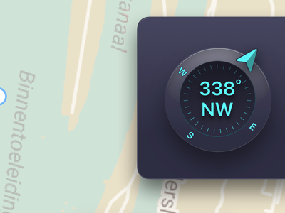 Glossy Compass ux design product ios wip ui