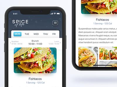 A responsive diet food chart diet ux ui design web resoponsive