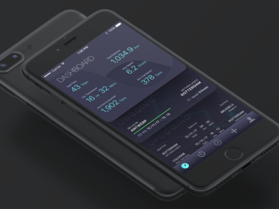 North Star Dashboard product design dashboard ux ui skeuomorphism app ios