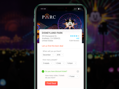 Amusement Park Deal design logo branding uidesign iphone responsive website deal archive