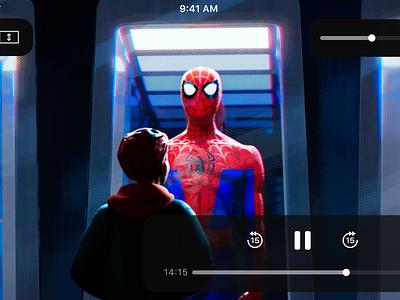 Reachability enhancement - iOS player spider man prototype invisionstudio design app ios sketch ux ui