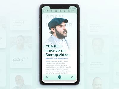 Podcast app ios ui sketch design