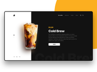 Cold Brew - Coffee Company Website
