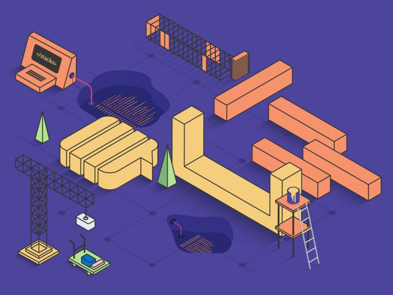 Stack Design System vector illustration