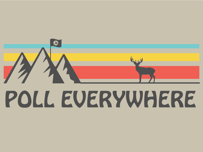 Poll Everywhere Camp Shirt poll everywhere deer shirt camp