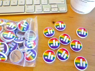 Pride Everywhere rainbow button poll everywhere pride