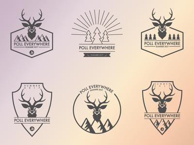 Camp Poll Everywhere trees mountain deer logo illustrator poll everywhere camp